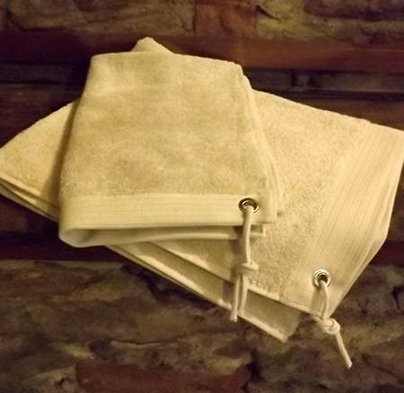 Asciugamano grigio perla